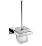 Angle Simple GD3212 Bathroom Lavatory Toilet Brush with Holder Wall Mount, Polished Stainless Steel