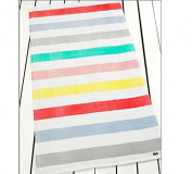 Lacoste Multi White Beach Towel (36x72) T14573m673672