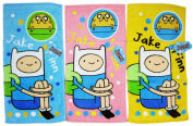 Adventure Time Jake and Finn Blue Yellow and Pink Coloured Hand Towel Set