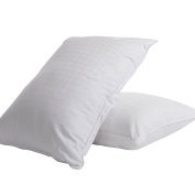 Allied Essentials Comfort Gel Fibre Filled Soft Perfect Blend Bed Pillow, White, Set of 2, King