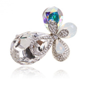 Digabi Women Jewellery Brooch Clothing Accessories Four Leaves with Gift Bag