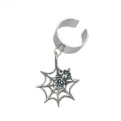 A Spider and Her Web Ear Cuff in Sterling Silver Hand Made in America