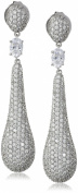 Charles Winston, S Silver, Cubic Zirconia Pave Drop Earrings, 8.05 ct. tw.