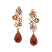 Cristina Sabatini Sanremo Earrings with. Zirconia in 18K Pink Gold over Sterling Silver