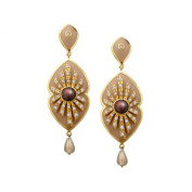 Cristina Sabatini Energy Star Earrings with. Zirconia in 14K Gold over Sterling Silver