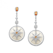 Cristina Sabatini Twinkle Star Earrings with. Zirconia in Sterling Silver