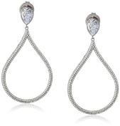 Charles Winston, S Silver, Cubic Zirconia Pear Drop Earrings, 7.75 ct. tw.