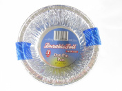 Disposable Aluminium Pot Pie Pans With Lids - 9 Pans (13cm x 1.75) Made in America