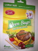 Home Select Oven Bags Large Size (41cm x 44cm ) 4 Bags; for Meats, Fish & Vegetables up to 3.6kg