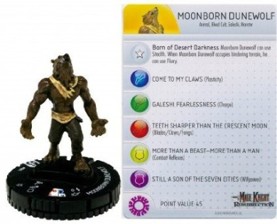 Mage Knight Heroclix - Moonborn Dunewolf