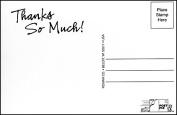 "Post-Pix Peel & Stick Photo Postcards by Romar ""Thanks So Much"""