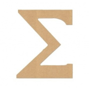 "10cm LETTER ""SIGMA"" GREEK FONT Unfinished Wood/Wooden Letter DIY Home, COLLEGE, SOROITY AND FRATERNITY Decor USA Made"