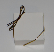 20cm Gold Stretch Loops 50ct for Candy Boxes / Jewellery Boxes