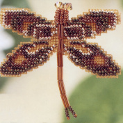 Rootbeer Dragonfly Beaded Counted Cross Stitch Ornament Kit Mill Hill 2000 Spring Bouquet MHDF3