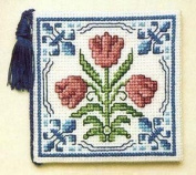 Textile Heritage Needle Case Counted Cross Stitch Kit - Delft Tulips