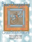 Blue Dragonfly Cross Stitch Pattern