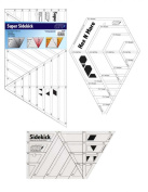 Hex n more, Super Sidekick, & Sidekick Quilt Ruler Set Quilting, Template, Rulers, Stencils