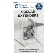 Comfy Clothiers 5 Metal Collar Extenders for Dress Shirts