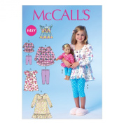 McCall Pattern Company M7043CL0 Children's/Girls/46cm Doll Tops, Dresses and Leggings Sewing Template, CL