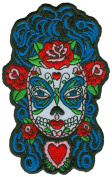 Sunny Buick - Butterfly Eyes Sugar Skull - Embroidered Patch