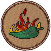 Flaming Jalapeno Patrol Patch - 5.1cm Round