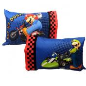 Super Mario Kart Set of 2 Pillowcases - Nintendo Race Bedding Pillows