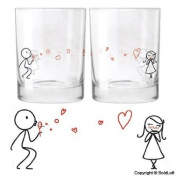 "BOLDLOFT® Cute Couple Gifts ""From My Heart to Yours"" Drinking Glasses-Wedding Gifts,Wedding Gifts for the Couple,Wedding Gifts for Bride and Groom,His and Hers Gifts,Anniversary Gifts"