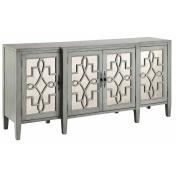 Stein World Furniture 4 Door Mirrored Credenza, Sage Grey