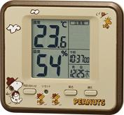Temperature and Humidity Metre (Celsius display) PEANUTS Snoopy Brown Metallic