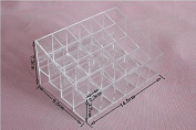 XT-XINTE Clear Acrylic 24 Lipstick Holder Display Stand Cosmetic Organiser Makeup Case
