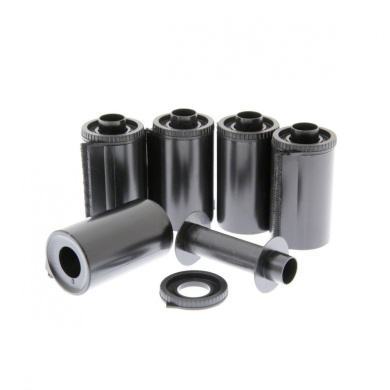 5 x Reusable 35mm Film Cassettes for use with bulk film loaders. Re-loadable camera film canisters.