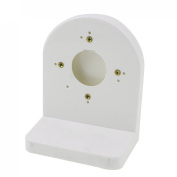 White Right Angle Ceiling Mount Bracket for CCTV Security Dome Camera