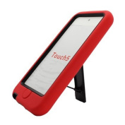 Apple iPod touch 5 / 5th Generation - Hybrid Double Layer Heavy Duty Armor Case w/ Built-in Kickstand