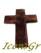 Handmade Christian Greek Orthodox Wooden Wood Cross / R17