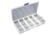15 Compartment Frosted Plastic Organiser