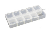 Small 10 Compartment Frosted Plastic Organiser