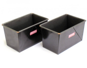 0.5kg Traditional Loaf Tin Twin-pack, Box Style, Hand Made, British Made with GlideX Non-Stick ® TM