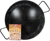 Enamelled (non-stick) Steel Paella Pan 42cm. With FREE Paella seasoning sachets