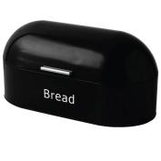 Home Discount Steel Retro Bread Bin Kitchen Food Storage Box, Black .