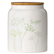 Cow Parsley Sugar Canister by Premier Housewares Dolomite with Bamboo Lid, NEW design for 2015 to brighten up any home