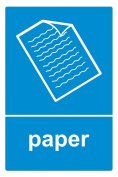 Recycling bin sticker Paper - Self Adhesive Label