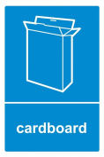 Recycling bin sticker Cardboard - Self Adhesive Label