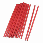 10 Pairs 24cm Long Kitchen Tableware Handcrafted Bamboo Chopsticks Red