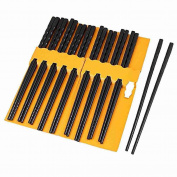 10 Pairs Kitchen Dishware Nonslip Plastic Chopsticks Black