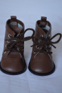 Brown Tie Boots For American Girl Dolls