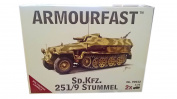German Sd.Kfz. 251/9 Stummel (2 Vehicles) - 1:72 Plastic Kit by Armourfast