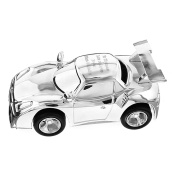 Personalised Silver Plated Racing Car Moneybox Bank