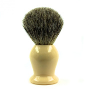 Luxury Frank Shaving Pure Badger Hair Shaving Brush with Faux Ivory Handle