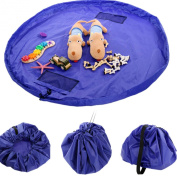 FINEJO New 150cm Portable Toy Storage Bag and Kids Play Mat Toys Organiser