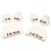'I love Dad' OR 'I love Mum' 2 pce gift set by Soft Touch